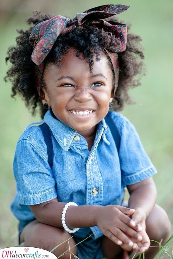 Add a Head Scarf or Ribbon - Easy Hairstyles for Black Girls