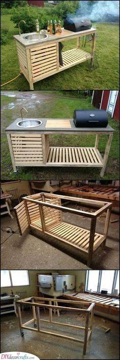A Portable Kitchen - Outdoor Kitchen Cabinet Ideas