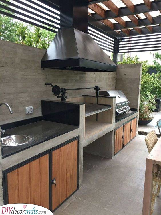 Modern and Contemporary - Outdoor Kitchen Cabinets