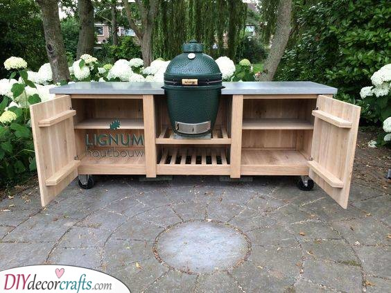 Keeping it Super Simple - Outdoor Kitchen Cabinet Ideas