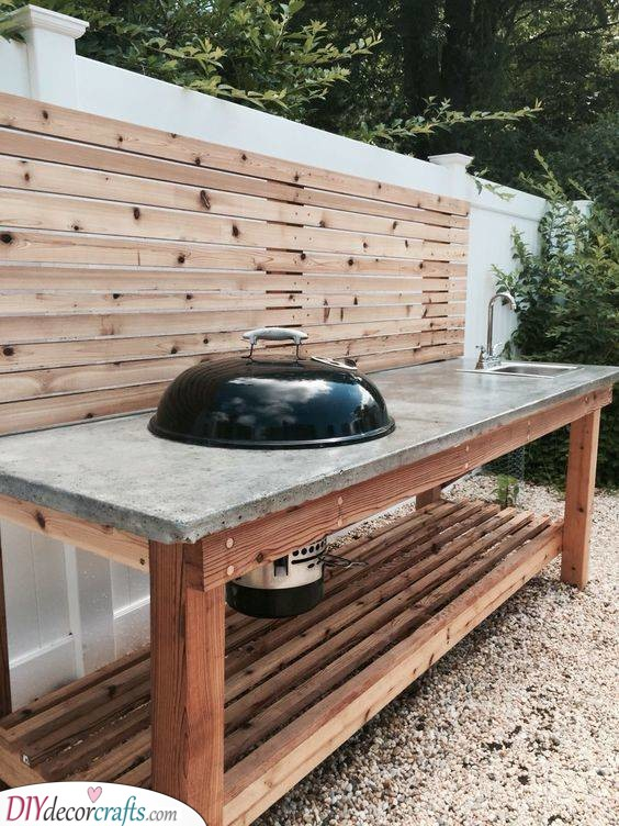 Time for a Barbeque - Simple Outdoor Kitchen Cabinets