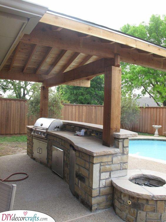 Gorgeous in Stone - Outdoor Kitchen Cabinets