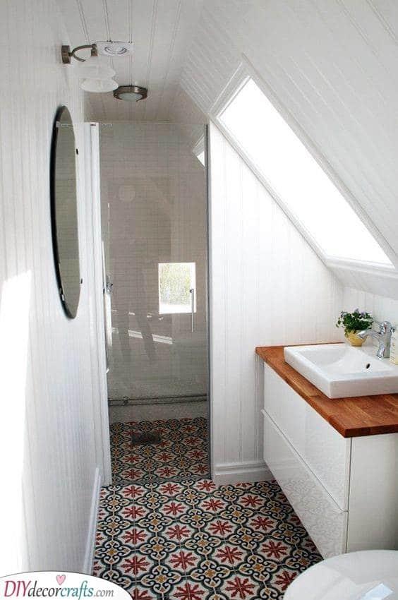 An Attic Bathroom - Small Bathroom Ideas