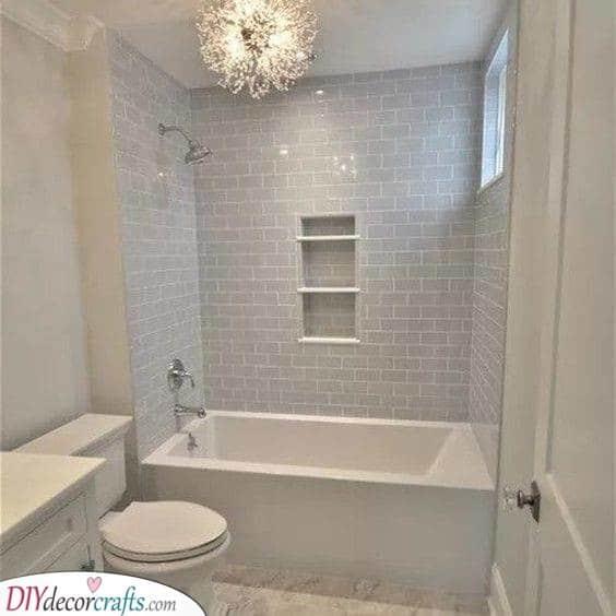 Beautiful in White - Small Bathroom Design Ideas