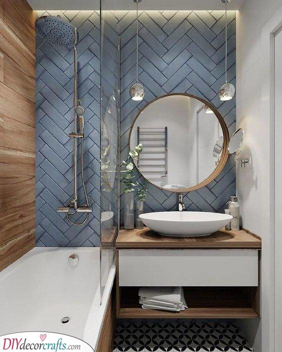 An Amazing Ambience - Small Bathroom Designs