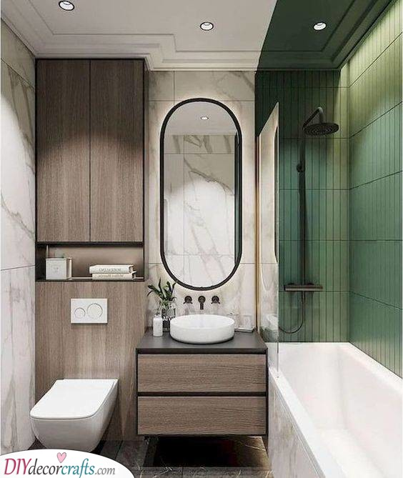 Sophisticated in Marble - Very Small Bathroom Ideas