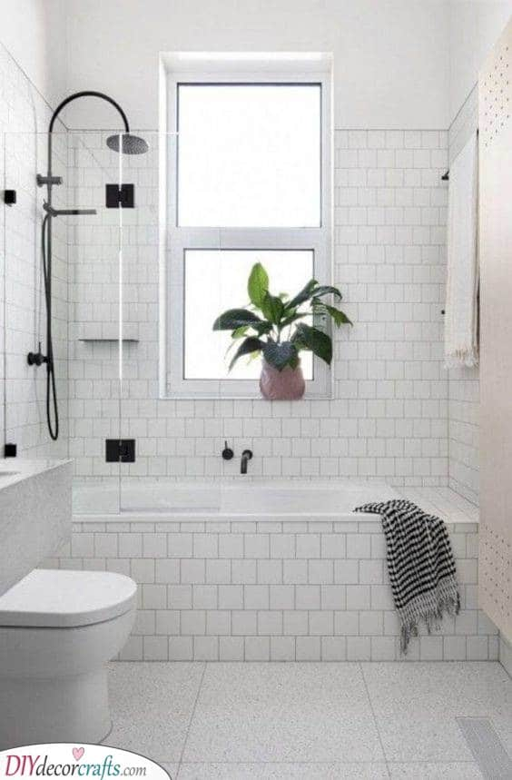 White Over White - Very Small Bathroom Ideas