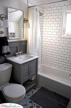 Subway Tile Bathroom - Simple and Modern