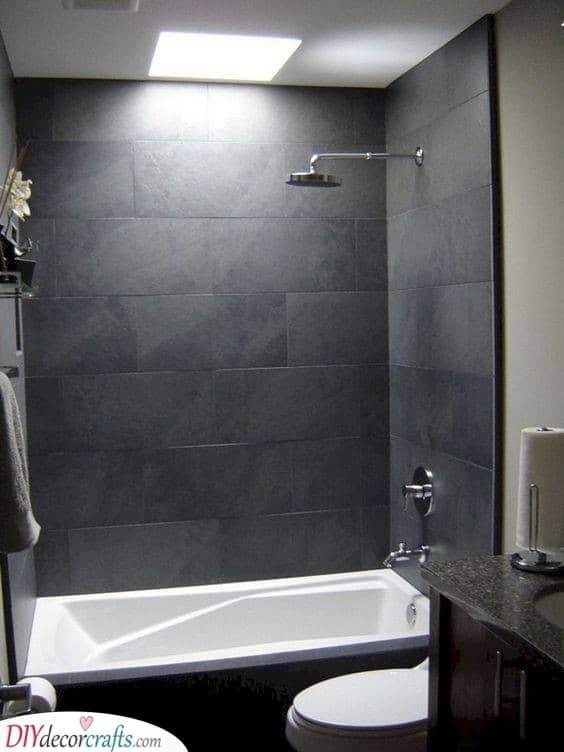 Brilliant in Black - Small Bathroom Design Ideas