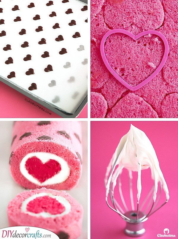 A Beautiful Cake Roll - Valentines Day Recipes