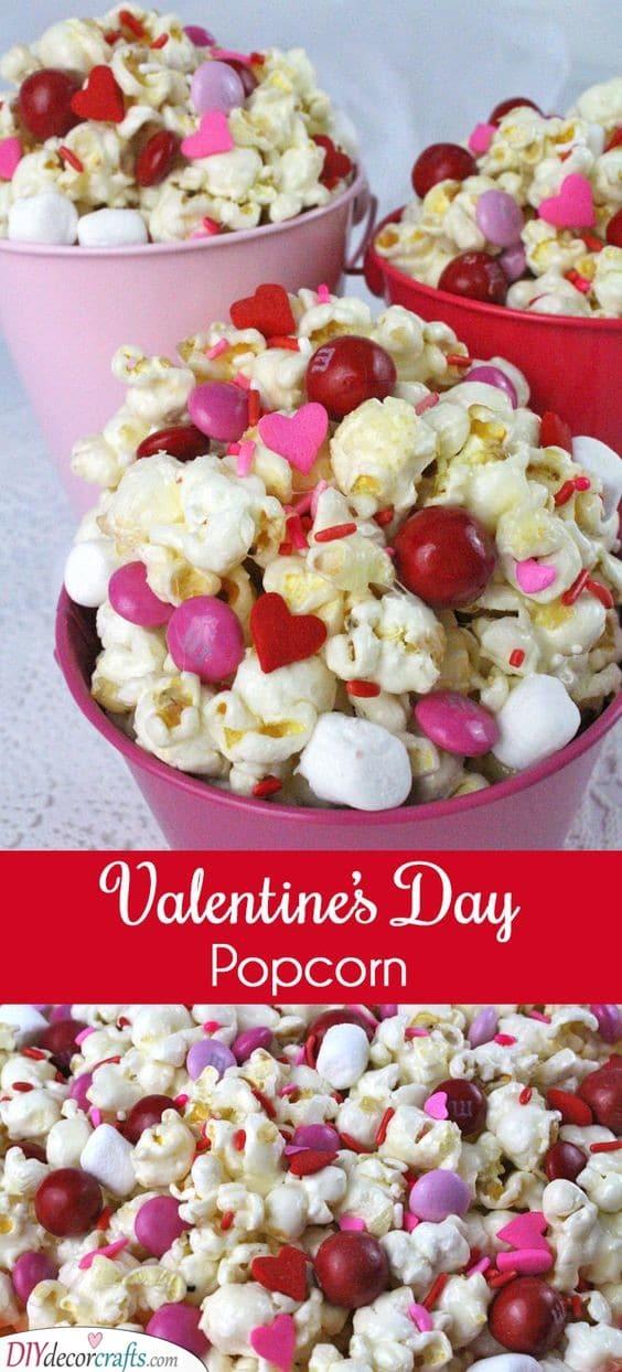 A Bit of Sweet Popcorn - Valentines Day Food Ideas