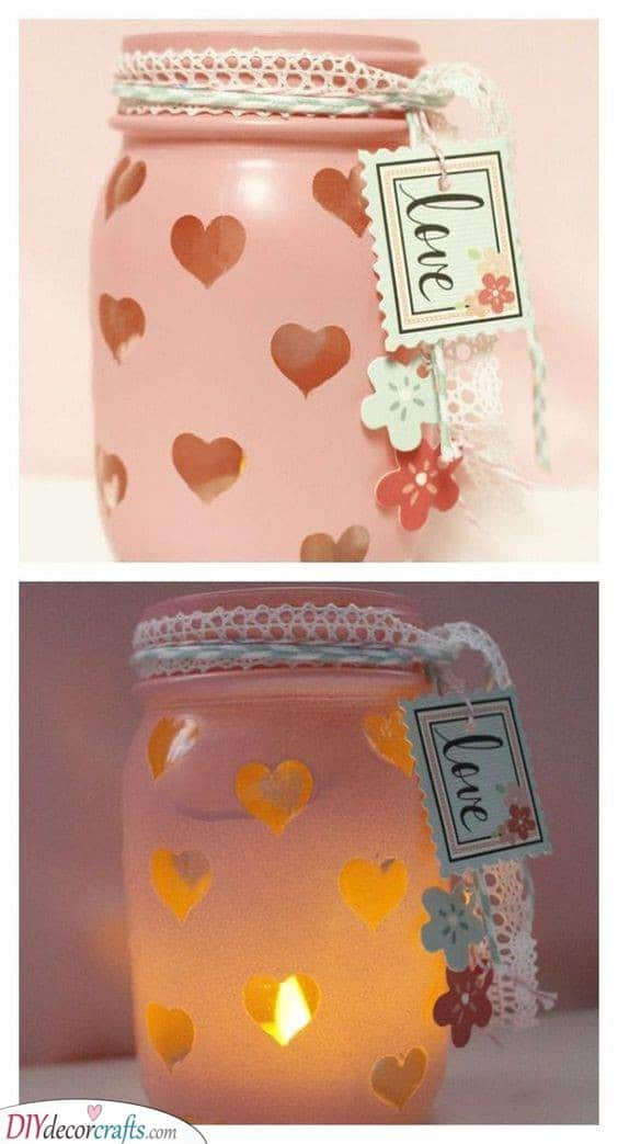 Mason Jar Idea - Unique Valentines Day Gifts for Her