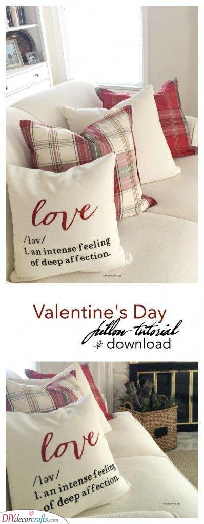 A Pillow with a Definition - Lovely and Sweet