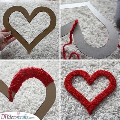 A Fuzzy Wreath - Make a Heart Wreath