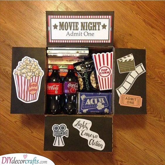 Snacks for a Movie Night - Cheap Valentines Day Gift Ideas