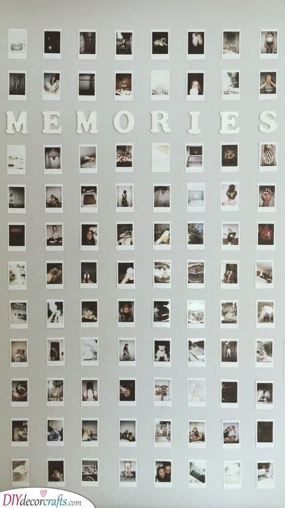 A Wall of Memories - Cheap Valentines Gift Ideas