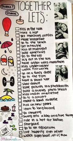 A Fantastic Bucket List - Valentines Day Ideas for Him