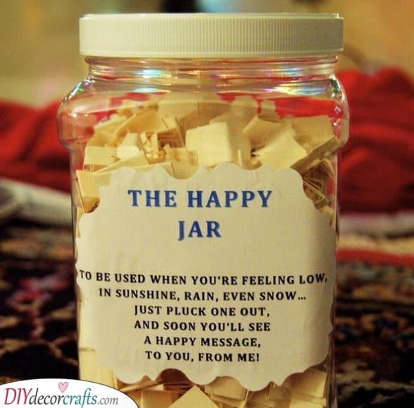 The Happy Jar - Cheap Valentines Gift Ideas