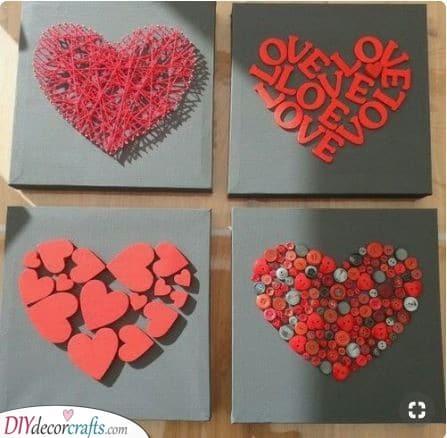 Unique Heart Art - Interesting and Beautiful