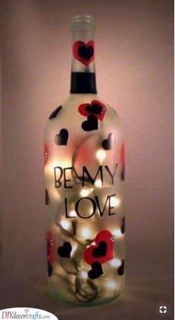 Be My Love - A Wine Bottle