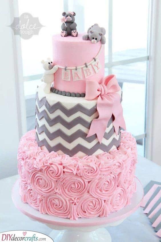Baby Shower Cake Ideas for Girls - Cakes for Girls