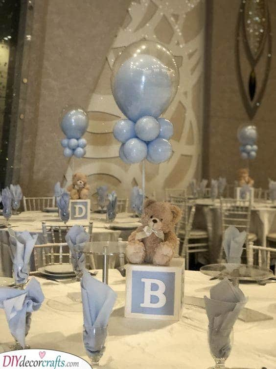 Baby Shower Table Centrepieces - Table Decor Ideas