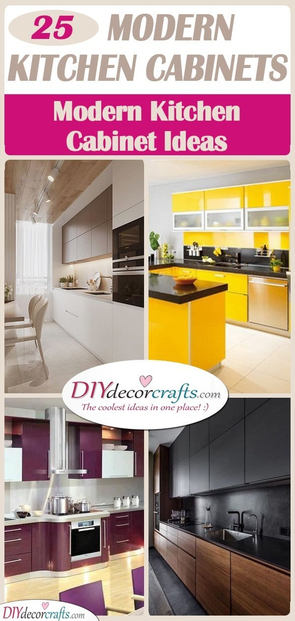 25 MODERN KITCHEN CABINETS - Modern Kitchen Cabinet Ideas