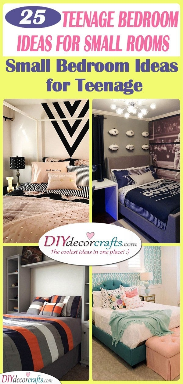25 TEENAGE BEDROOM IDEAS FOR SMALL ROOMS - Small Bedroom Ideas for Teenage Girls