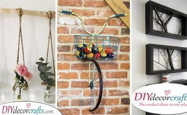25 DIY WALL DECOR IDEAS - Homemade Wall Decoration Ideas