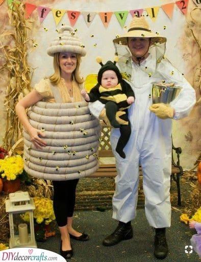 Bee, Beehive and Beekeeper - Sweet as Honey