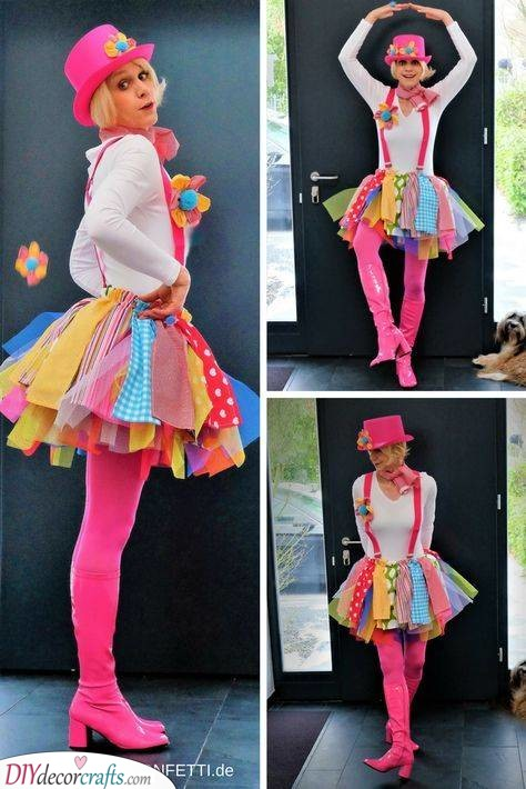 A Handmade Clown Costume – Carnival Costumes for Women
