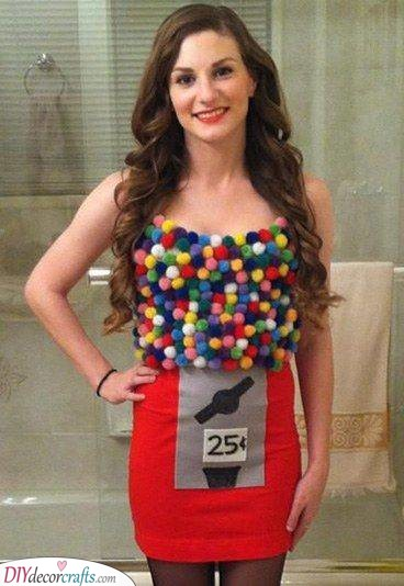 A Gumball Machine - Carnival Costumes for Women
