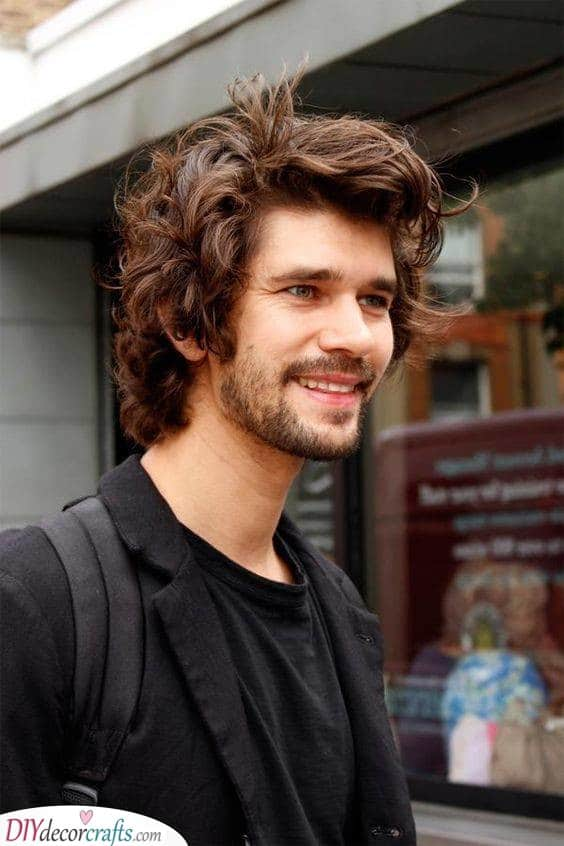 Curly and Funky - Best Long Hairstyles for Men