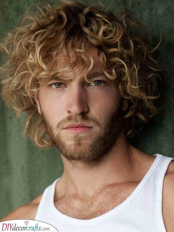 Bold and Beautiful Curls - Long Hairstyles for Men