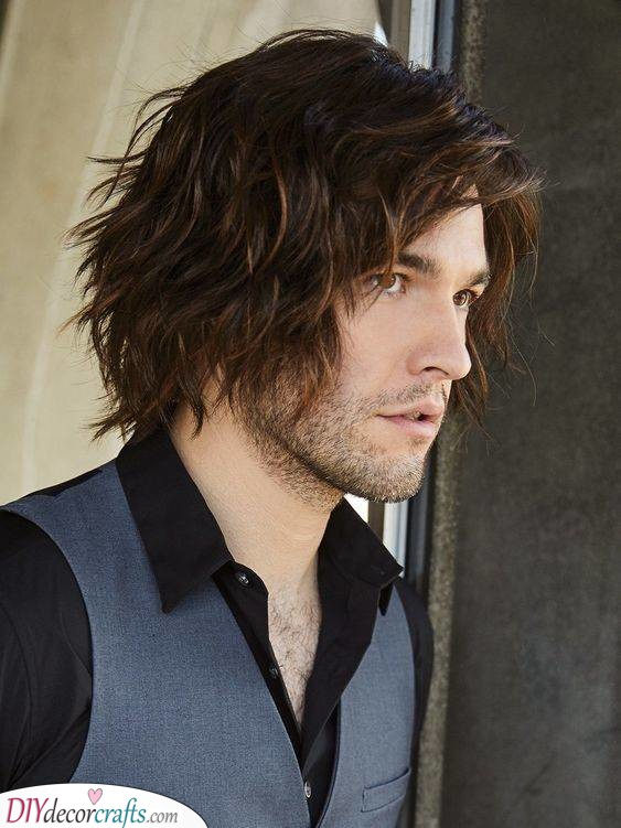 Layered and Wavy - Best Long Hairstyles for Men