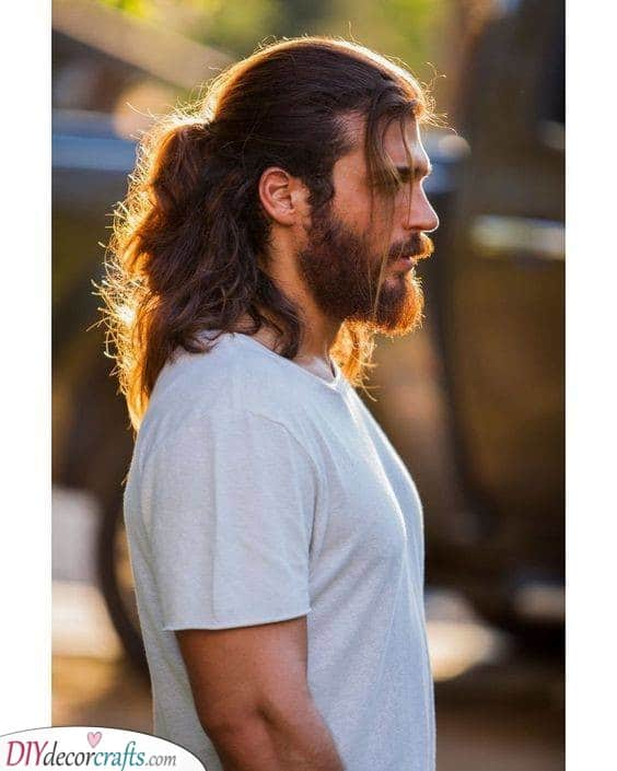 Half a Ponytail - Best Long Hairstyles for Men