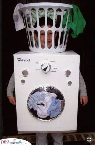 A Washing Machine - Creative Carnival Costumes for Babies