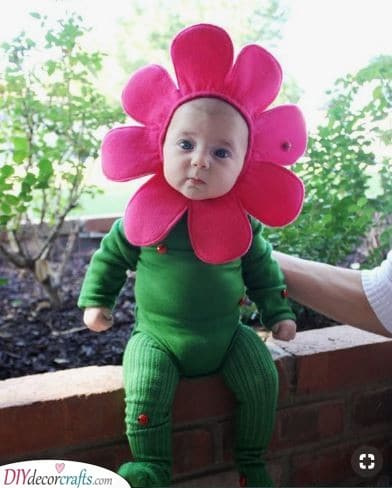 A Blossoming Flower - Carnival Baby Costume Ideas
