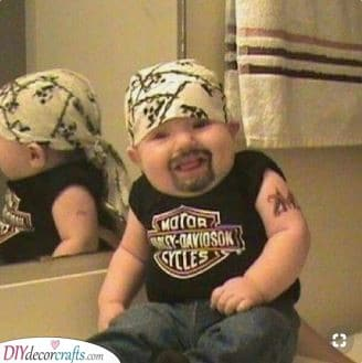 An Old Bikie - An Easy Carnival Baby Costume