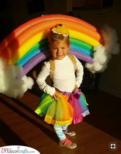 A DIY Rainbow Costume - Great Carnival Costumes for Kids