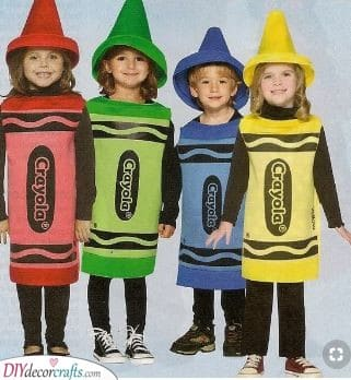 Cute Crayons - Carnival Costumes for Kids