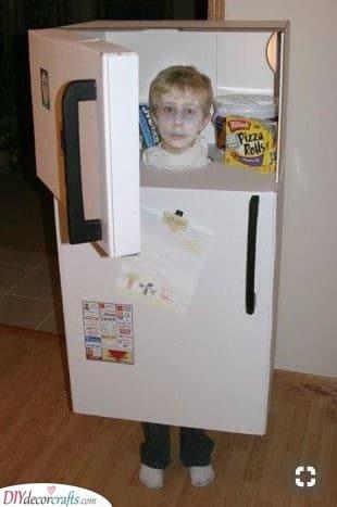 Dress Up as a Refrigerator - Cardboard Box Idea