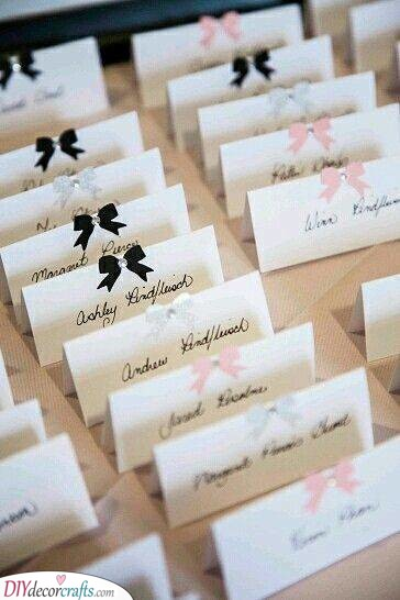 DIY Wedding Place Cards - Wedding Name Cards