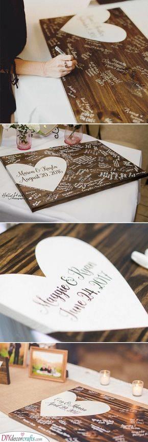 Wedding Guest Book Ideas - Wedding Guest Book Alternatives