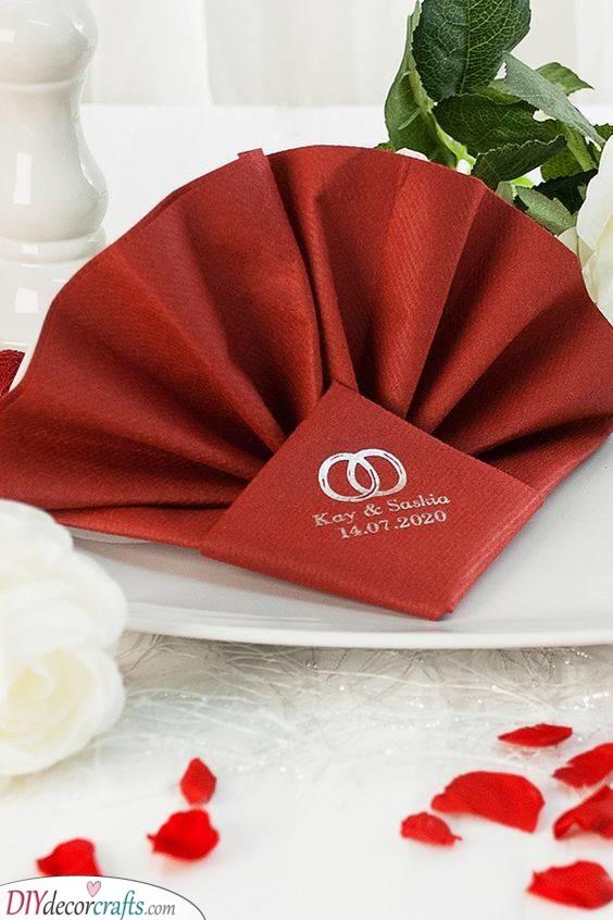 Personalised Wedding Napkins - Wedding Napkin Ideas