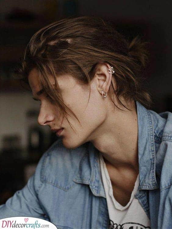 Thin and Long - Hairstyles for Men with Thin Hair