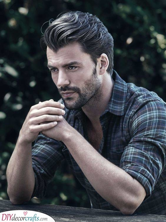Slick it all Back - Mens Haircuts for Fine Hair