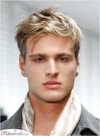 Short and Messy - Hairstyles for Men with Thin Hair