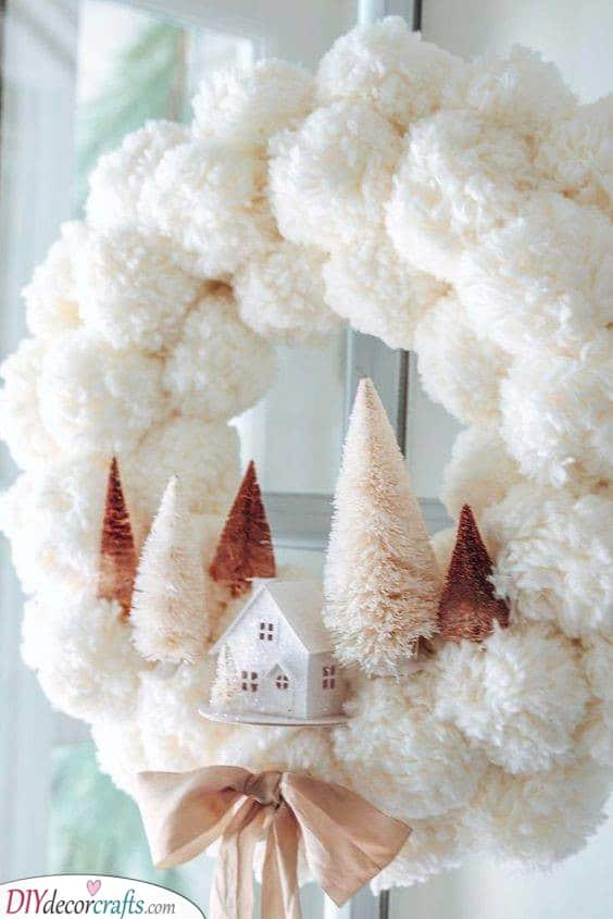 Winter Door Decorations - Wonderful Winter Wreath Ideas