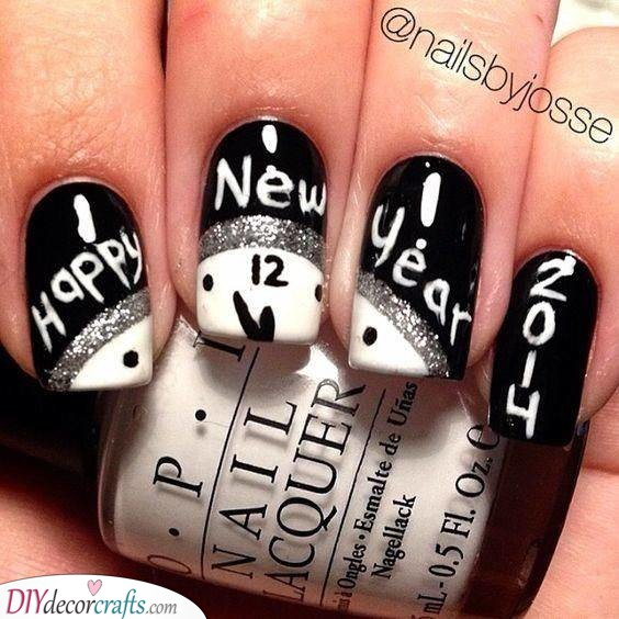 New Years Nails - New Years Eve Nail Ideas
